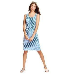 Boden Navy Printed Jersey Day Dress